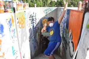 Delavnica pred grafitarsko delavnico za otroke